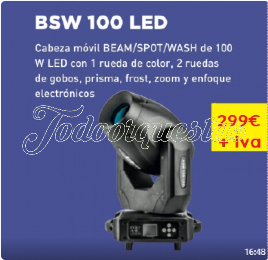 OFERTON EN CABEZA MOVIL: LED/BEAM/WASH
